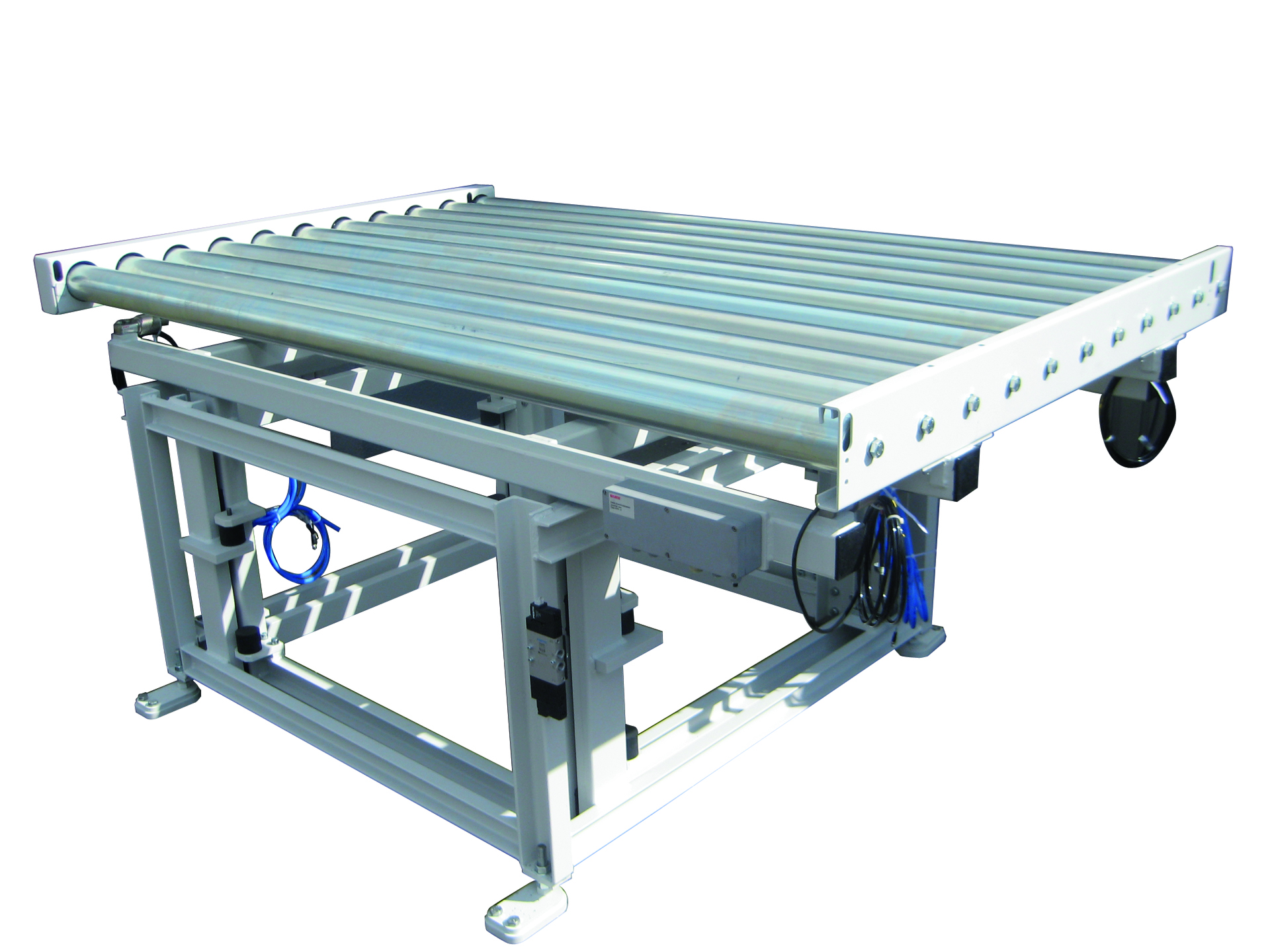 Lifting system with roller conveyor
