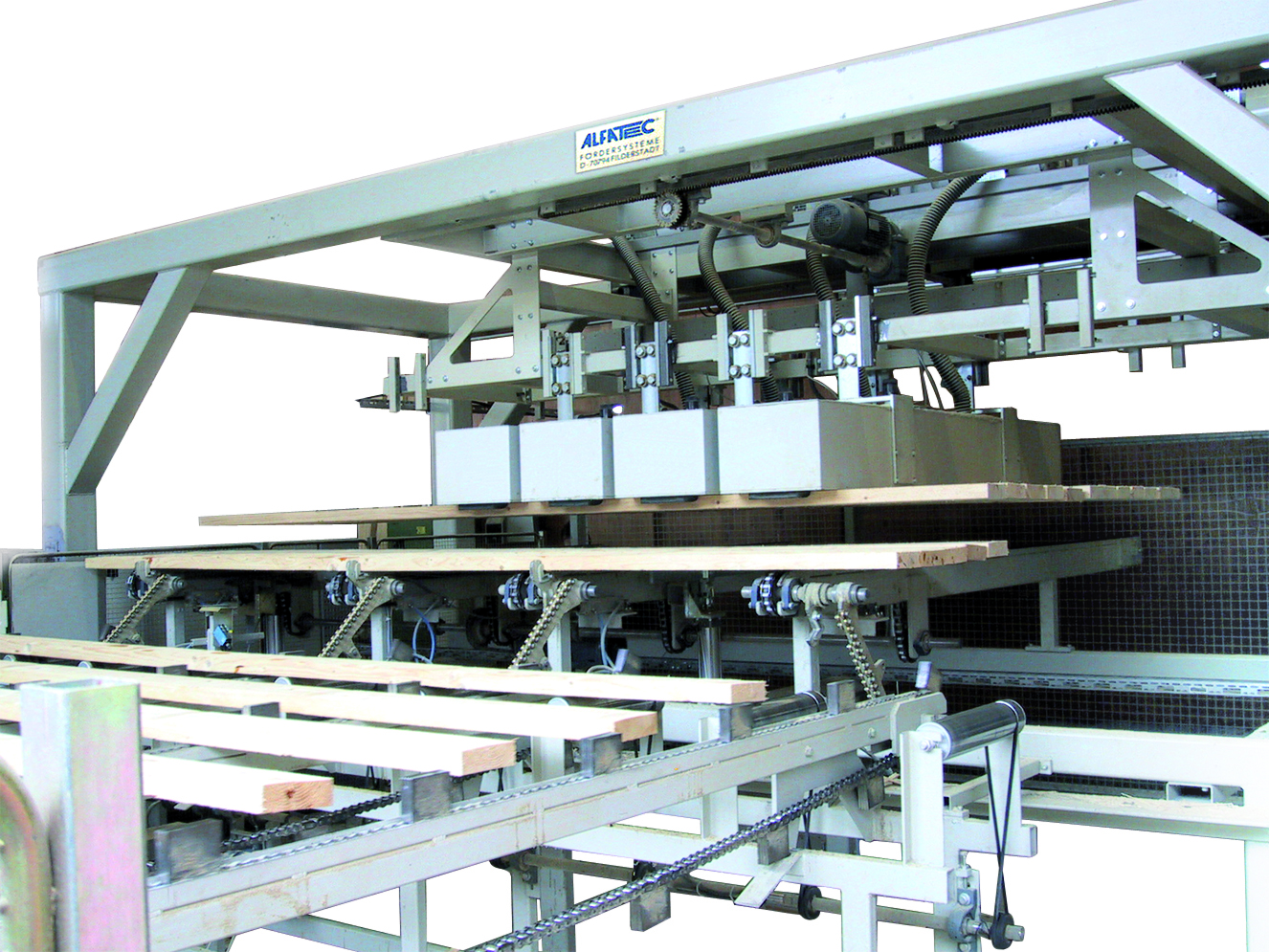 Ladeportal für Holzbearbeitung