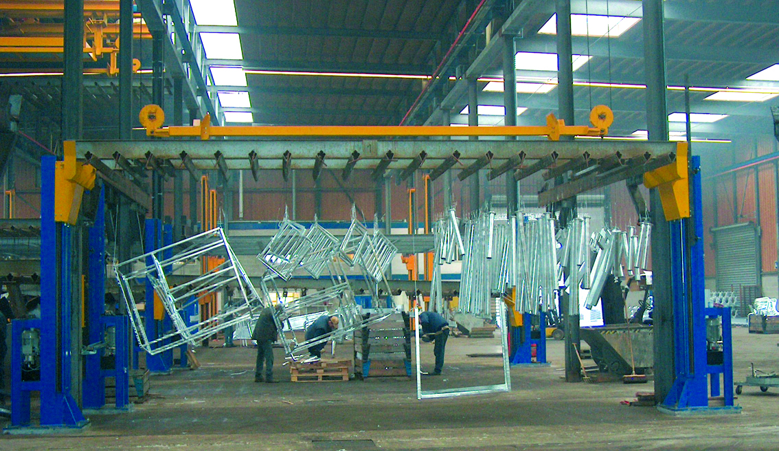 Lifting system - galvanizing industry