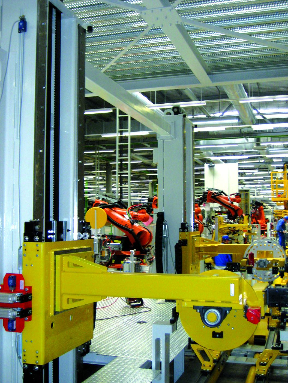 Lifting system - automotive industry belt lifter