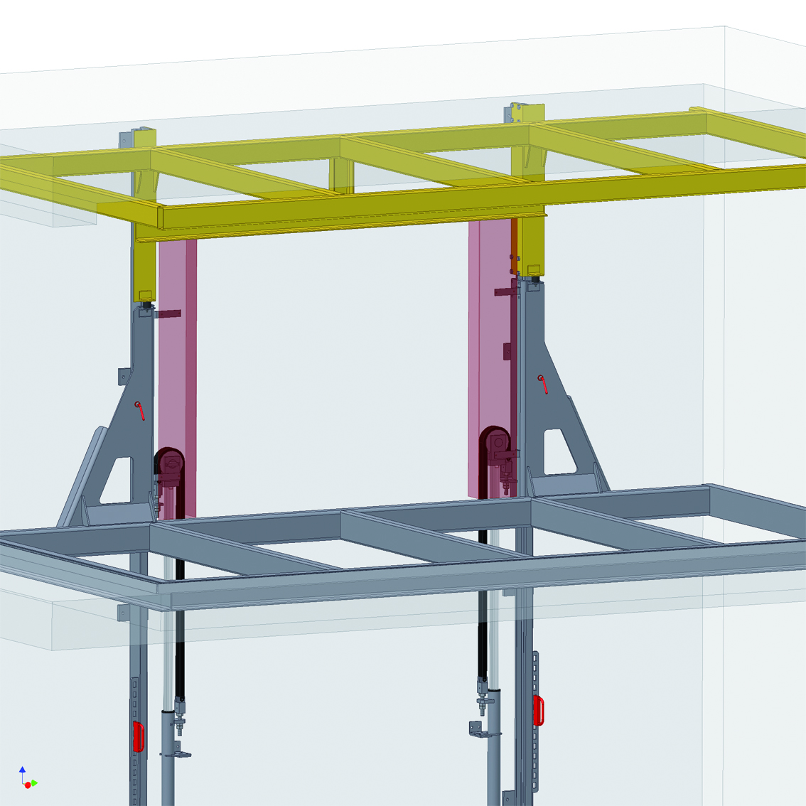Lifting system - automotive industry
