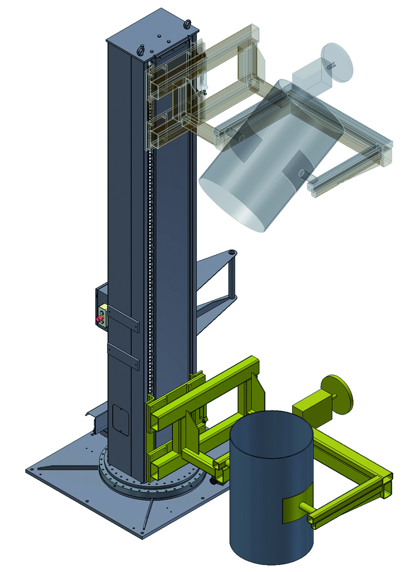 Lifting system with tilt unit