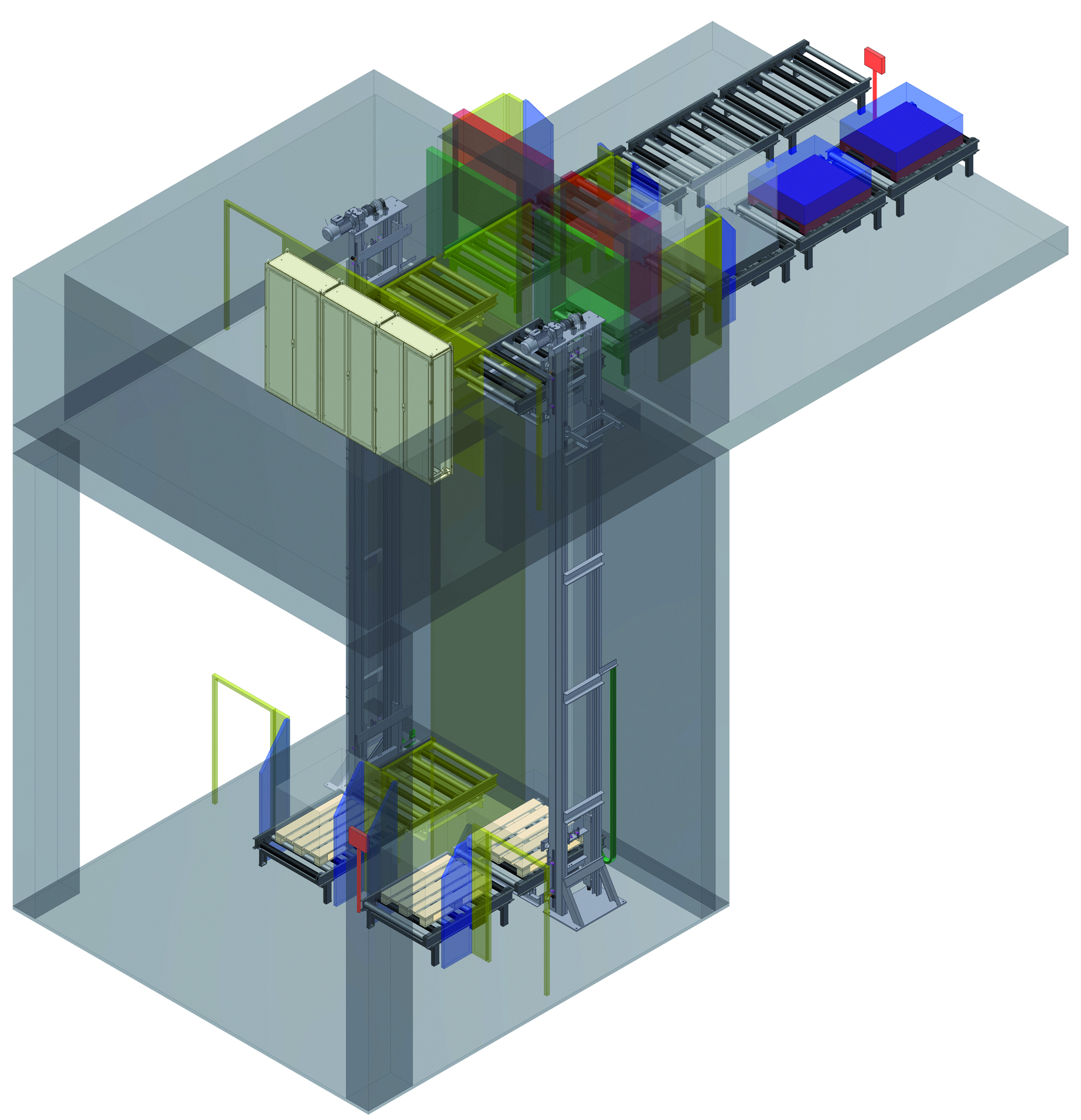Double lifting system - intralogistics