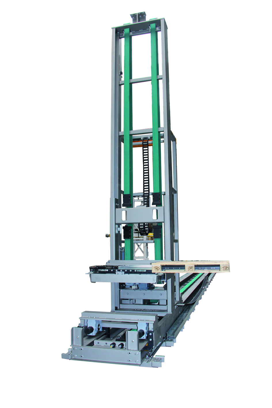 Stacker crane for EURO pallets