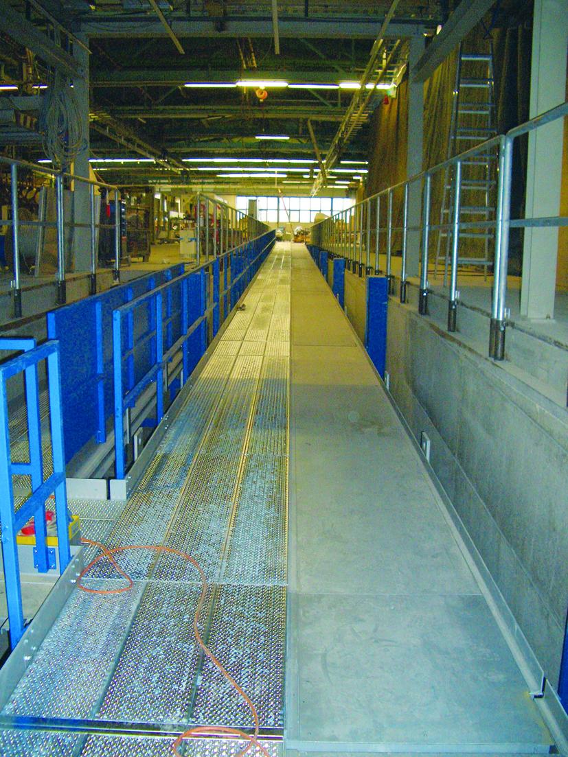 Hubbühne zur Glasherstellung
